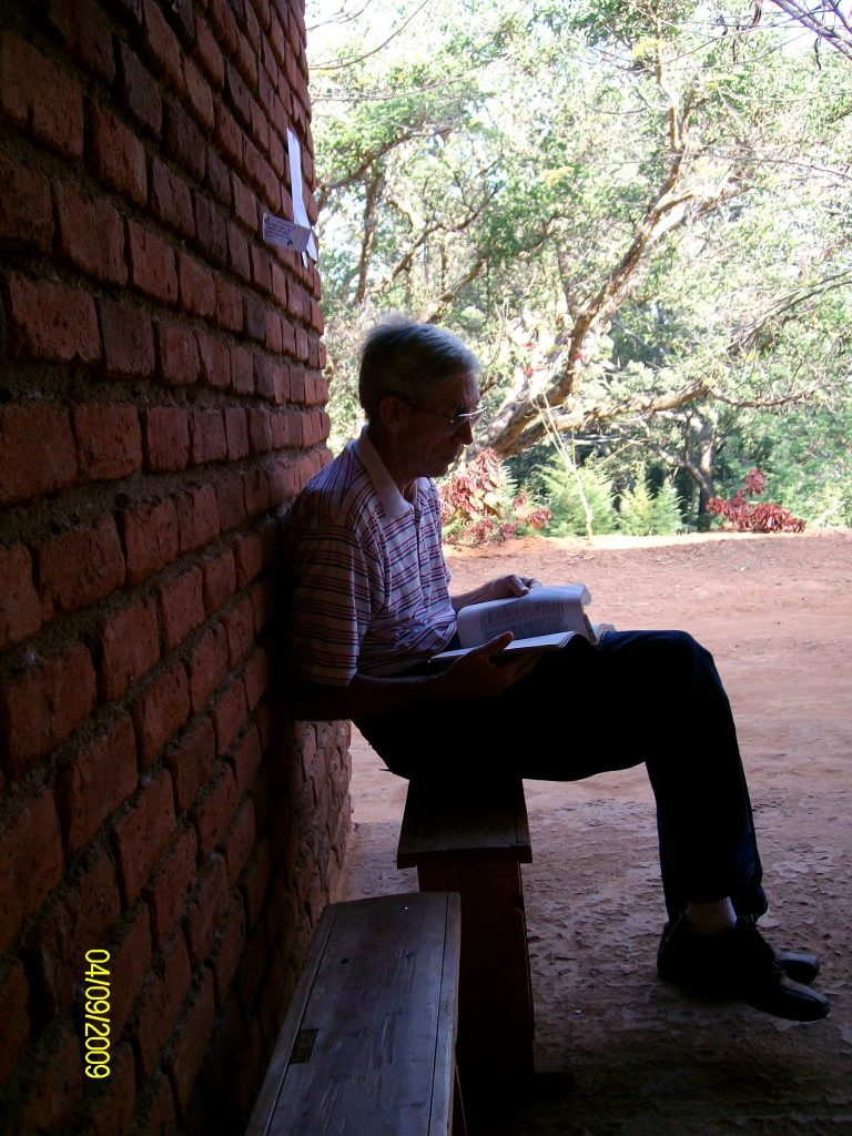 Tom Gentry, Malawi 2009. He was getting ready to preach the Gospel. That was his life's goal. May that be ours, as well.